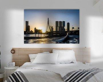 Rotterdam erwacht | Sonnenaufgang an der Erasmusbrücke von Ricardo Bouman