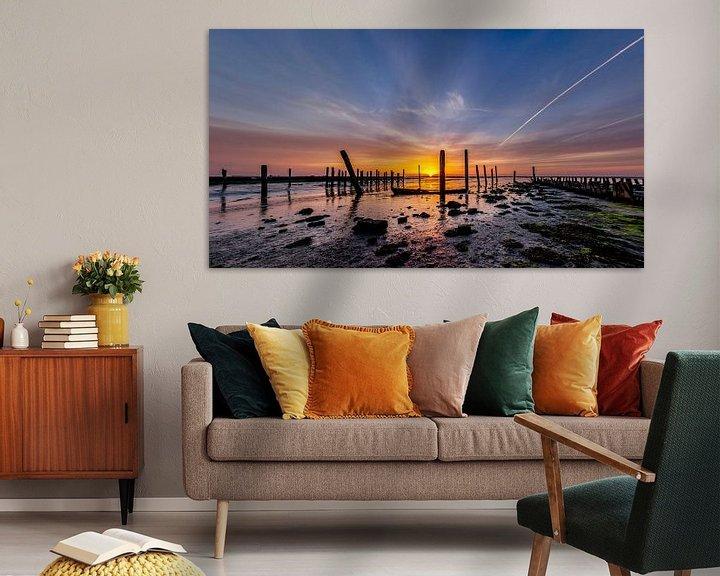 Sfeerimpressie: Haven van Sil Zonsopkomst Texel van Texel360Fotografie Richard Heerschap
