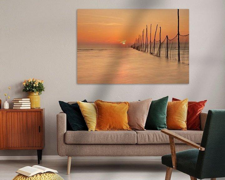 Sfeerimpressie: Visnetten bij zonsopkomst van John Leeninga
