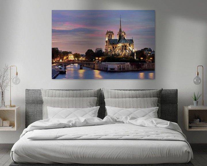 Sfeerimpressie: Notre Dame in Parijs van Edwin van Wijk