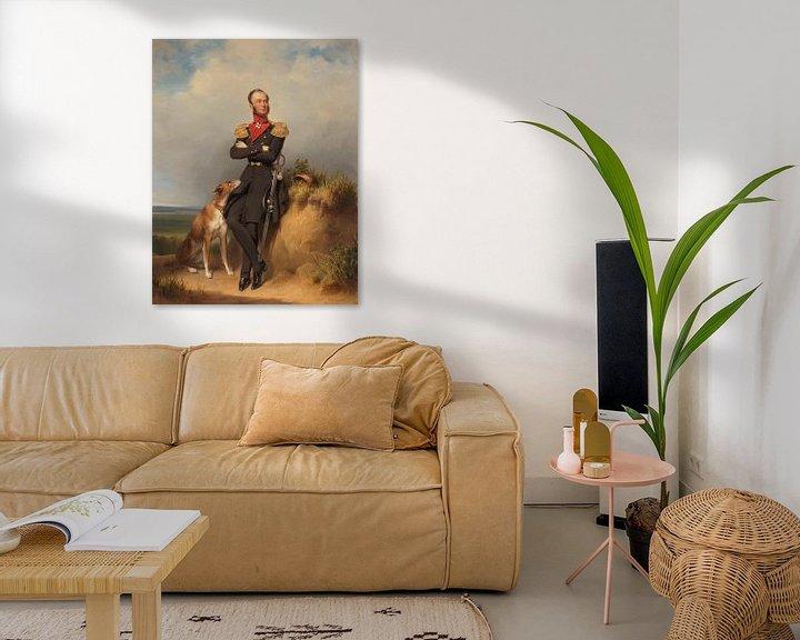Beispiel: Porträt von Willem II, König der Niederlande, Jan Adam Kruseman