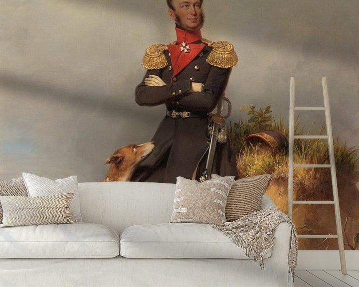 Beispiel fototapete: Porträt von Willem II, König der Niederlande, Jan Adam Kruseman