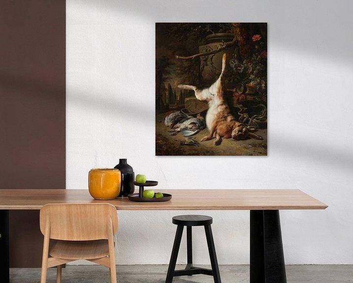 Beispiel: Stillleben mit Hase und andererm Wild, Jan Weenix