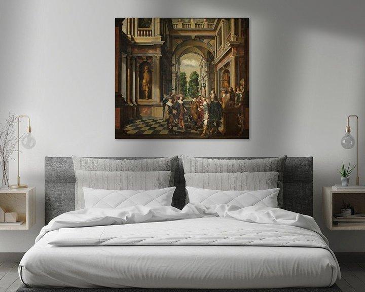 Beispiel: Siebenteilige, dekorative Sequenz: Eine Galerie, Dirck van Delen
