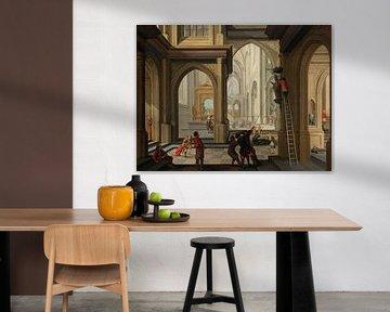 Bildersturm in einer Kirche, Dirck van Delen