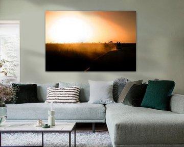 Zonsondergang Kenia von Leon Weggelaar