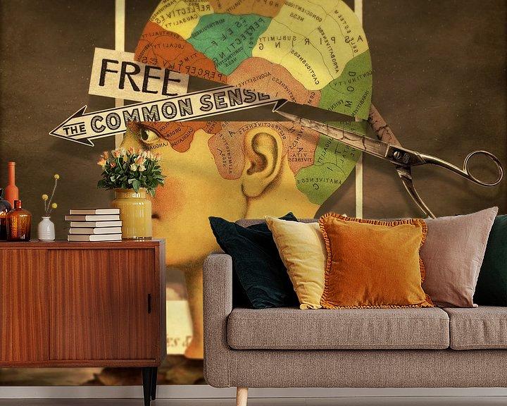 Sfeerimpressie behang: Free The Common Sense van Marja van den Hurk