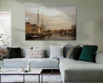Rivier Spaarne in Haarlem von Wendy Drent