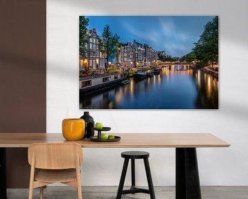 Amsterdamer Kanäle während der blauen Stunde von Dennisart Fotografie