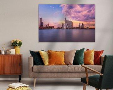 Vue de Rotterdam sur le pont Erasmus sur Dennisart Fotografie