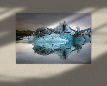 Jökulsárlon lagune IJsland van Samantha Schoenmakers