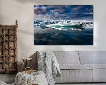Water en IJs IJsland van Samantha Schoenmakers