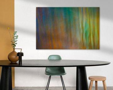 Fantasie in groen, blauw en oranje von Karin Tebes