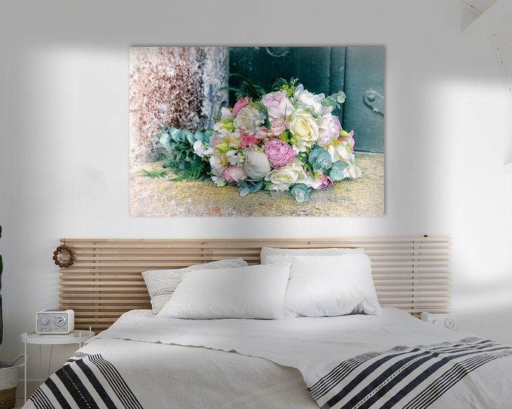 Sfeerimpressie: Bossie trouwbloemen van Marianne Bras