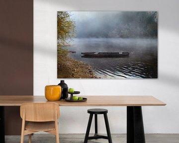 La Dordogne in de mist von Marcel Tiemens