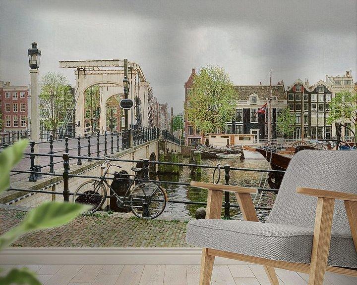 Sfeerimpressie behang: Amsterdam, Magere Brug van Igor Shterenberg