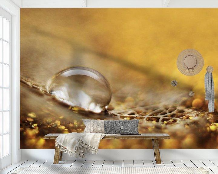 Sfeerimpressie behang: Gold fever van Kvinne Fotografie
