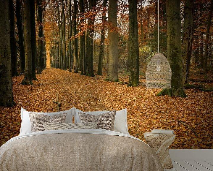 Sfeerimpressie behang: Herfst van Yvonne Kruders