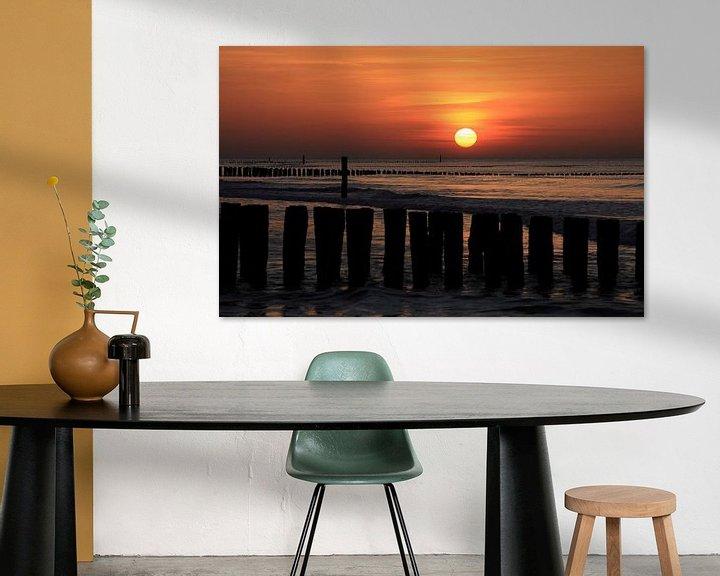 Sfeerimpressie: Zonsondergang in Domburg van Ludo Verhoeven