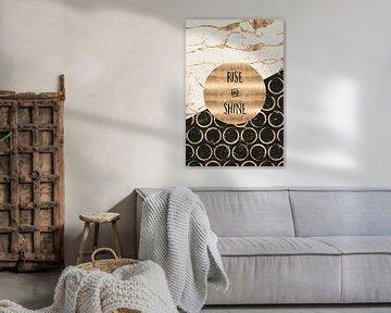 GRAPHIC ART Rise and shine van Melanie Viola