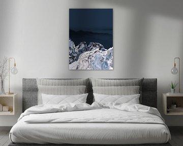 BLUE MARBLED MOUNTAINS v2 von Pia Schneider