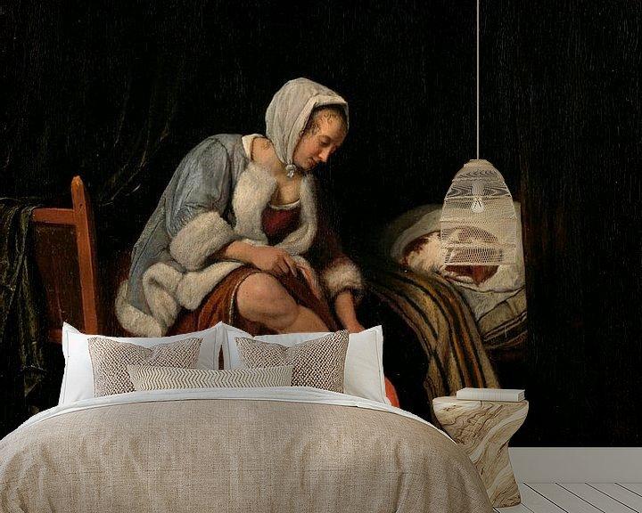 Beispiel fototapete: Frau bei der Toilette, Jan Havicksz Steen