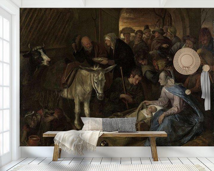 Beispiel fototapete: Die Anbetung der Hirten, Jan Havicksz. Stein