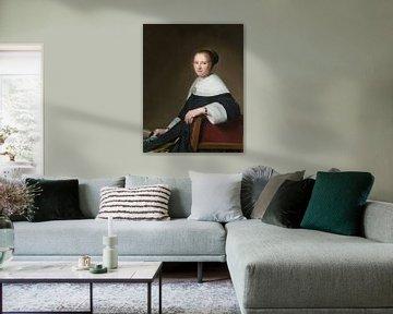 Porträt von Maria van Strijp, Johannes Cornelisz. Verspronck