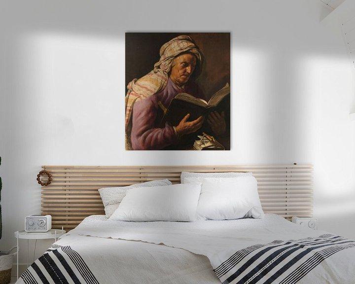 Sfeerimpressie: Lezende oude vrouw, Jan Lievens