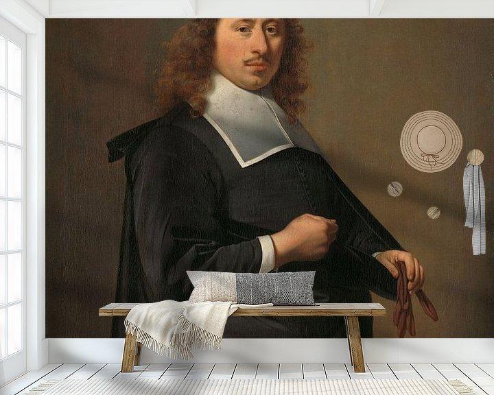 Beispiel fototapete: Porträt von Willem Jacobsz Baert, Caesar Boethius van Everdingen