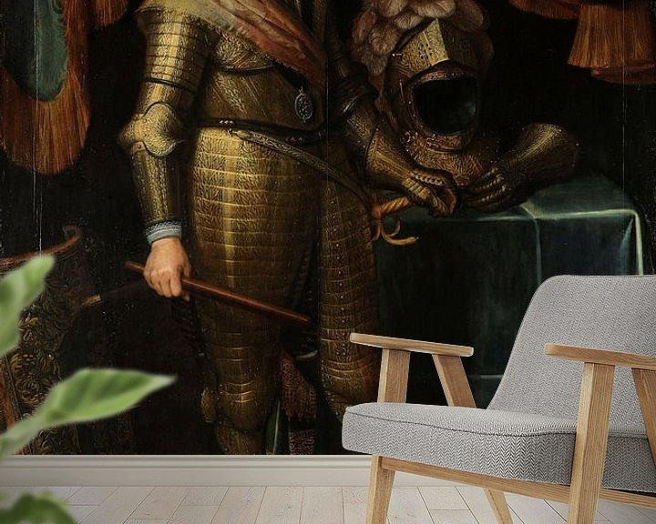 Beispiel fototapete: Porträt von Maurits dem Prinz von Oranien, Michiel Jansz. van Mierevelt