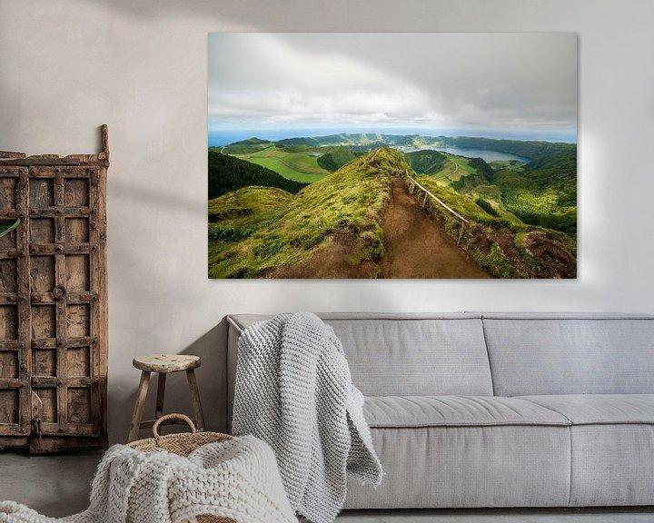 Sfeerimpressie: Uitzicht van Boca do Inferno, São Miguel, Azores, Portugal van Ellis Peeters