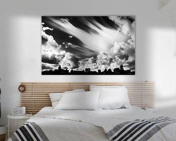 Wolkenlucht van Arjan Blok