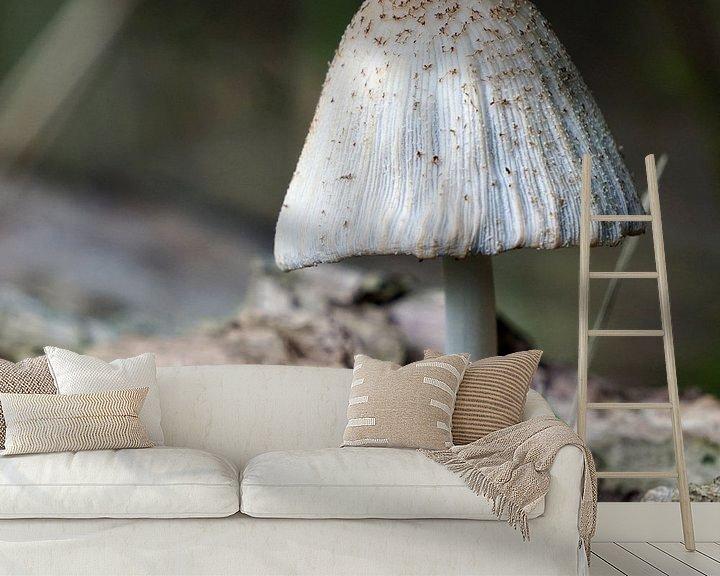 Sfeerimpressie behang: Paddenstoel van Ineke Klaassen