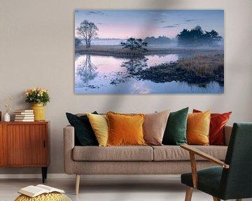 Landschaft im Nebel von Yvonne Kruders