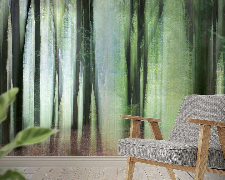 Sfeerimpressie behang: Bomen in beweging 1 van Danny Budts
