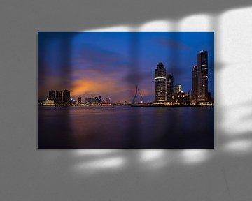 Skyline Rotterdam Erasmusbrug von Charlene van Koesveld
