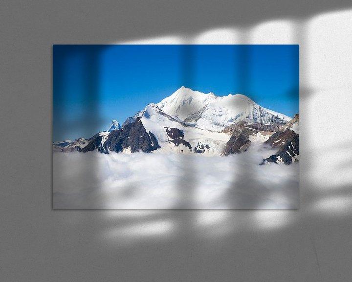 Sfeerimpressie: De Weisshorn en Matterhorn in de Walliser Alpen van Menno Boermans
