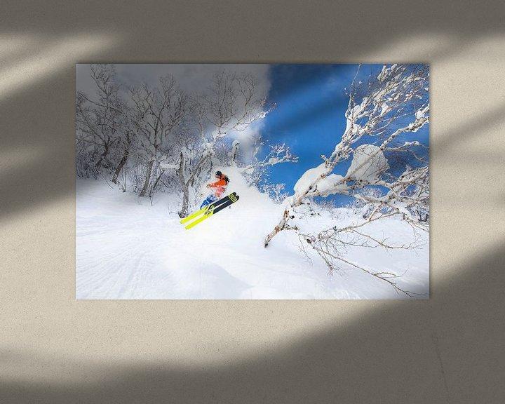 Sfeerimpressie: Extreme Powder Ski Niseko Hokkaido Japan van Menno Boermans