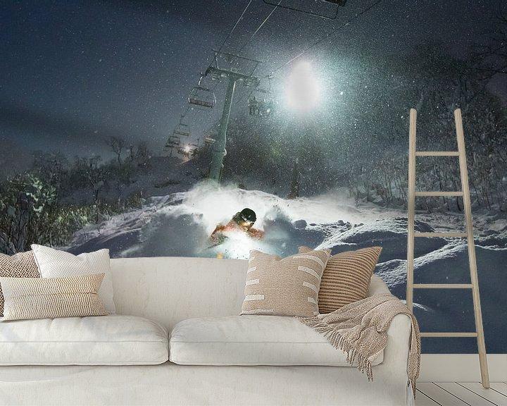 Impression: Ski nocturne à Niseko Hokkaido au Japon sur Menno Boermans