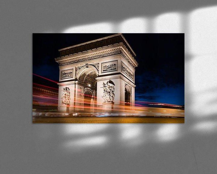 Sfeerimpressie: Parijs bij nacht.... van Mignon Goossens