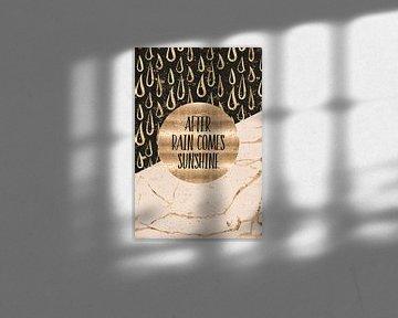 GRAPHIC ART After rain comes sunshine van Melanie Viola