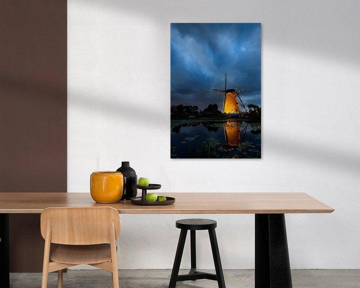 Sfeerimpressie: Blauwe uur in Kinderdijk van Halma Fotografie