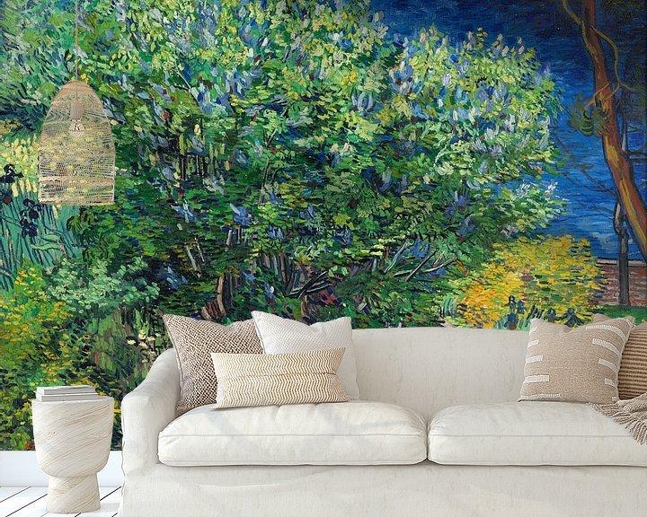Impression: Lilac Bush - Vincent van Gogh