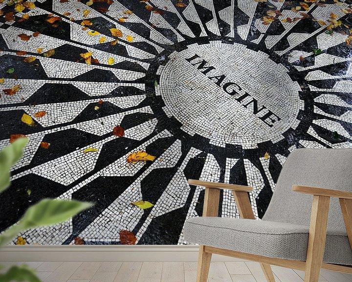 Sfeerimpressie behang: Imagine van Leuntje 's shop