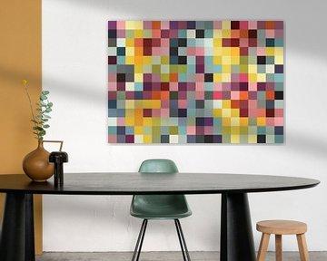 Gekleurde blokken  van Mark Rademaker