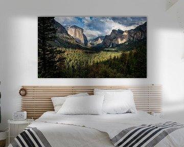 Yosemite Tunnel View van Erik de Klerck