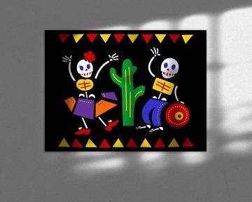 Dia de los muertos - Todestag Mexiko von Studio Mattie