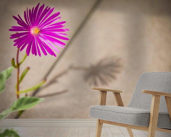 Sfeerimpressie behang: Don't wait untill everything is perfect, start living! van Ellis Peeters