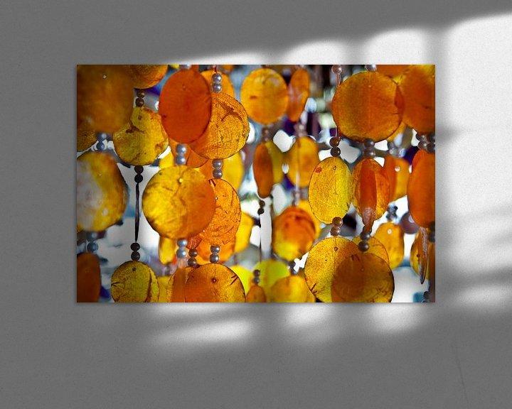 Sfeerimpressie: Oranje schelpen van Ellis Peeters